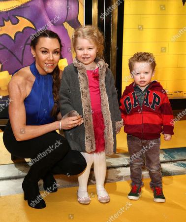 Michelle Heaton with her children Faith Hanley and Aaron Jay Hanley