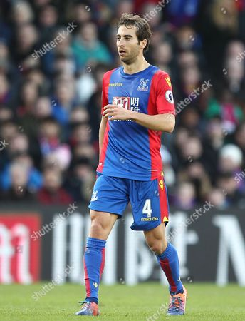 Mathieu Flamini of Crystal Palace  during the Emirates FA Cup 4th Round   match between Crystal Palace  and Manchester City   played at Selhurts Park   , London on  28th  January  2017