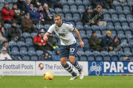 Preston Defender Tommy Spurr during the EFL Sky Bet Championship match between Preston North End and Ipswich Town at Deepdale, Preston