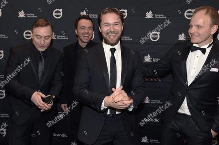 "Werner Daehn, Seumas F. Sargent, Jakob Oftebro, Dome Karukoski, director of ""Tom of Finland"""