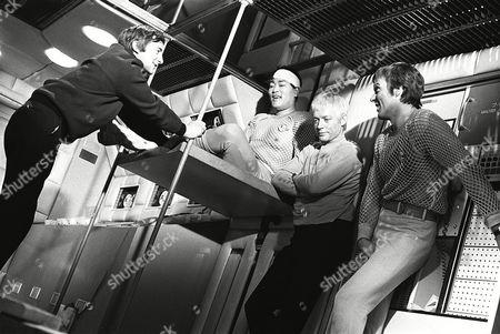 'UFO' - Sub-Smash - Director David Lane with Anthony Chin, Ed Bishop and Michael Billington filming on set