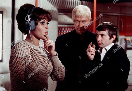 'UFO' - 'Sub-Smash' - Dolores Mantez, Ed Bishop and Director David Lane filming on set