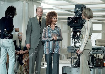'Space 1999' - 'Earthbound' - Gerry and Sylvia Anderson on set with Barbara Bain.