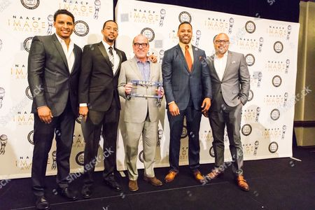 Stock Image of Will Dalton, Chris Greene, Brad Siegel, Carl Seaton, Jubba Seyyid Will Dalton, from left, Chris Greene, Brad Siegel, Carl Seaton and Jubba Seyyid at the 48th NAACP Image Awards Nominees' Luncheon, at the Lowes Hotel in Hollywood, Calif. This annual event kicks-off the celebrations for the NAACP Image Awards and honors all of the nominees. The 48th NAACP Image Awards will broadcast LIVE on TV One on Saturday, Feb. 11, 2017, at 9pm/8c as a two-hour special hosted by Anthony Anderson. 90-minute pre-show airs live from the red carpet at 7:30pm/6:30c