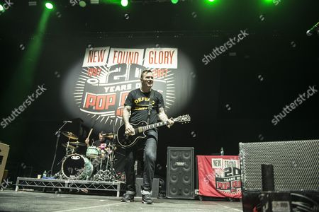 Editorial picture of New Found Glory in concert at First Direct Arena, Leeds, UK - 28 Jan 2017
