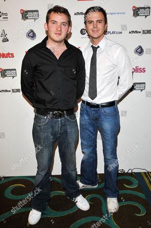 Matt Littler (L) and Darren Jon Jeffries (R) from Hollyoaks