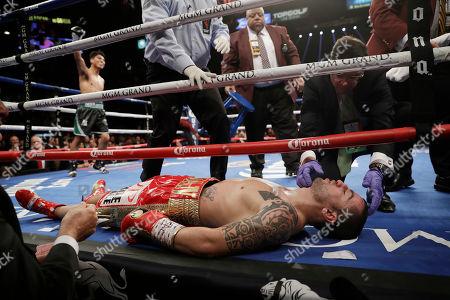 Editorial image of Zlaticanin Garcia Boxing, Las Vegas, USA - 28 Jan 2017