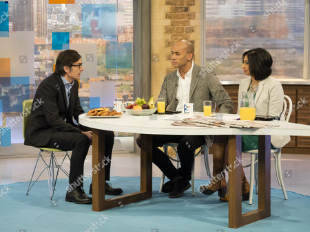 Robert Peston, Chuka Umunna and Suella Fernandes
