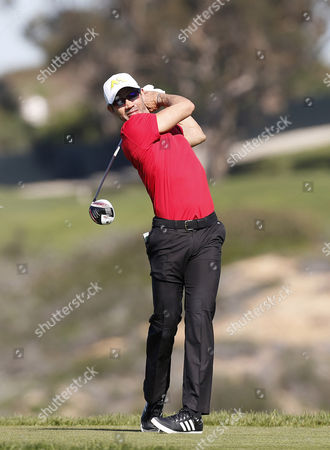 Camilo Villegas hits a shot on the fifth hole during the third round of the Farmers Insurance Open at Torrey Pines South on , in San Diego, California