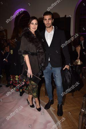 Editorial image of Gattinoni show, Front Row, AltaRoma Fashion Week, Italy - 27 Jan 2017