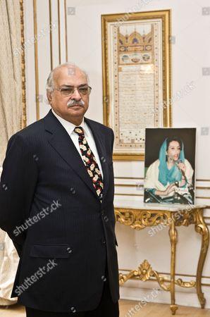 Pakistan High Commissioner, Wajid Shamsul Hasan at the Pakistan High Commission, London