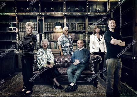 'Crime Thriller Awards Season'  TV - 2008 -  [L-R]: Ruth Rendell, PD James, Val McDermid, Colin Dexter, Lynda La Plante and Ian Rankin.