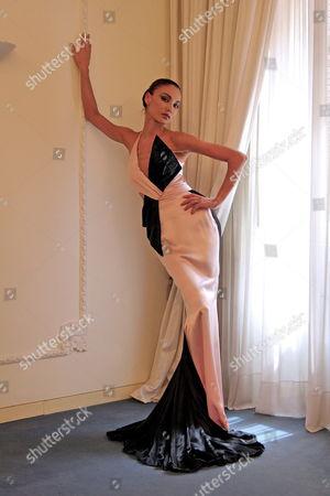 Italian Model Maria Carla Boscono Poses For a Photo Wearing a Proposal by Stylist Fausto Sarli on Friday 07 July 2006 in Rome Italy Italy Rome
