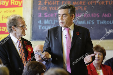 Stock Picture of Lindsay Roy and Gordon Brown