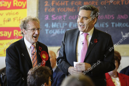 Editorial photo of Gordon Brown campaigns in the Glenrothes by-election, Cardenden, Fife, Britain - 31 Oct 2008