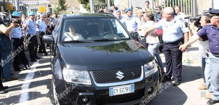 69-year-old Son of Italy's Last King Vittorio Emanuele Di Savoia Sits on Rear Seat of Black Car with His Lawyer Giulia Bongiorno (seated at L Front Seat) As It Leaves the Potenza Prison on Friday 23 June 2006 Vittorio Emanuele of Savoia was Released to Continue His House Arrest in Rome Emanuele Di Savoia was Arrested on Friday 16 June As Part of a Two-year Investigation Into Corruption and Prostitution Reports Said Investigators Suspected Vittorio Emanuele of Having Contacts with the Mafia and of Helping Procure Prostitutes For Clients of the Casino in Campione D'italia Italy Potenza