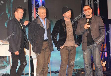 Larry Mullen Jnr, Adam Clayton, The Edge and Bono