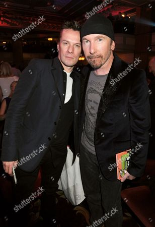 Larry Mullen Jnr and The Edge