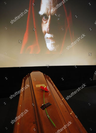 The Coffin of Italian Director Mario Monicelli During His Funeral in Monti Rome Italy 01 December 2010 Monicelli Committed Suicide on 29 November 2010 He was 95 Years Old Italy Rome