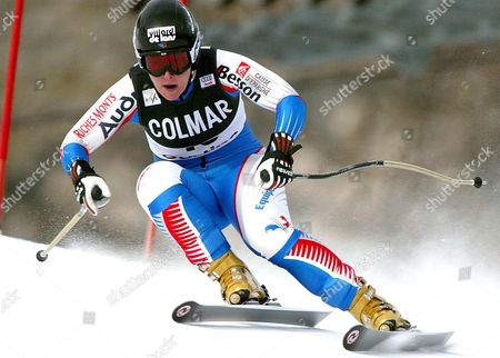 France's Carole Montillet-carles in Action During a Training Session For Women's Alpine Ski World Cup in Cortina Dampezzo Thursday 13 January 2005 Montillet-carles Finished Fourth Placed Italy Cortina D'ampezzo
