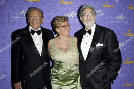Alfred Mann, Claude Mann and Placido Domingo