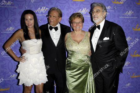 Cassandra Mann, Alfred Mann, Claude Mann and Placido Domingo