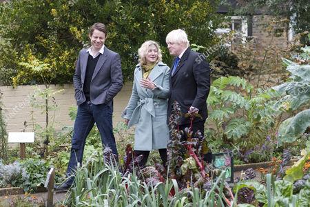 Mayor Boris Johnson, Rosie Boycott and chef Oliver Rowe