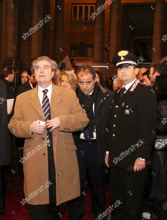 Spanish Minister of Culture Cesar Antonio Molina Arrives in the San Carlo Theatre in Naples Italy 07 February 2009 to Attend a Concert Which Marks the Theater's Reopeining After Restoration Italy Naples