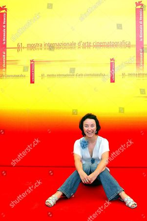 Actress Gabriela Muskala Sits at the End of a Press Conference Held on Monday 06 September 2004 to Present the Film 'All Winter Without Fire' by Swiss Poland-born Movie Director Greg Zglinski Which Will Be Screened Later Today in Competition at the 61st International Exhibition of Cinema Art Better Known As Venice Film Festival Italy Venice