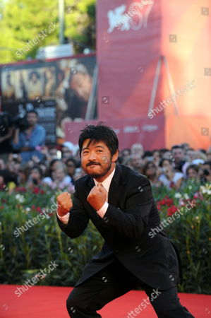 Japanese Director Takashi Shimizu Arrives For the Closing Award Ceremony of the 67th Annual Venice Film Festival in Venice Italy 11 September 2010 the Award Ceremony Will Determine This Year's Golden Lion Award and Will Be Followed by the Screening of 'The Tempest' by Us Director Julie Taymor Presented out of Competition of the Festival Italy Venice