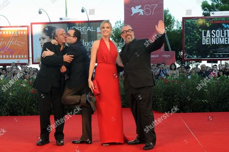(l-r) Spanish Actors Manuel Tallafe Antonio De La Torre Carolina Bang and Spanish Director Alex De La Iglesia Arrive For the Closing Award Ceremony of the 67th Annual Venice Film Festival in Venice Italy 11 September 2010 the Award Ceremony Will Determine This Year's Golden Lion Award and Will Be Followed by the Screening of 'The Tempest' by Us Director Julie Taymor Presented out of Competition of the Festival Italy Venice