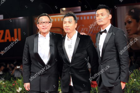 Chinese Director Andrew Lau (l-r) and Chinese Actors Donnie Yen and Shawn Yue Arrive on the Red Carpet For the Premiere of Their Movie 'Legend of the Fist: the Return of Chen Zhen' at the 67th Annual Film Festival in Venice Italy 01 September 2010 the Movie is Presented out of Competition at the Festival Running From 01 to 11 September Italy Venice