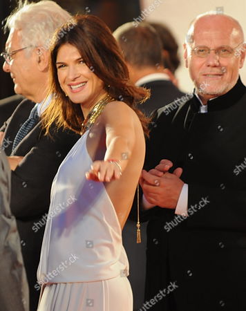 Romanian Actress Monica Barladeanu (to the Right Italian Film Director Marco Mueller) on the Red Carpet During the Premiere For the Movie 'Vallanzasca - Gli Angeli Del Male' at the 67th Annual Venice Film Festival in Venice Italy 06 September 2010 the Movie by Italian Director Michele Placido is Presented out of Competition at the Festival Running From 01 to 11 September 2010 Italy Venice