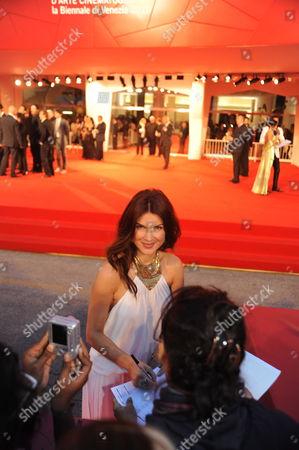 Romanian Actress Monica Barladeanu on the Red Carpet During the Premiere For the Movie 'Vallanzasca - Gli Angeli Del Male' at the 67th Annual Venice Film Festival in Venice Italy 06 September 2010 the Movie by Italian Director Michele Placido is Presented out of Competition at the Festival Running From 01 to 11 September 2010 Italy Venice