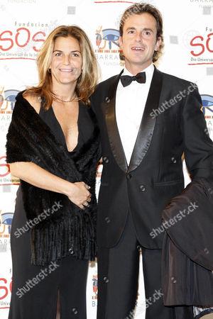 Arantxa Sanchez Vicario and husband Jose Santacana