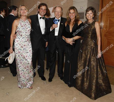 Arantxa Sanchez Vicario and husband Jose Santacana with Professor Barraquer and Elena Barraquer