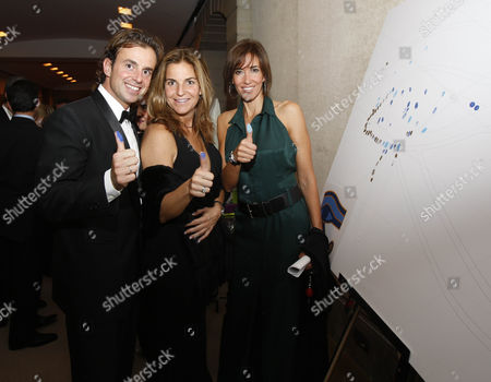 Arantxa Sanchez Vicario and husband Jose Santacana with Elsa Anka