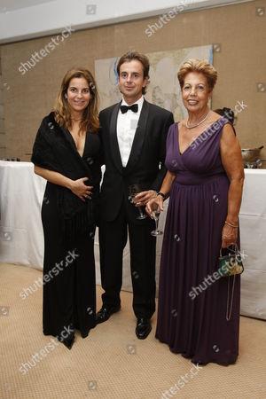 Arantxa Sanchez Vicario and husband Jose Santacana with Marisa Sanchez