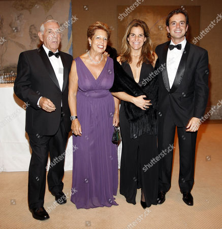 Arantxa Sanchez Vicario and husband Jose Santacana with Emilio Vicario and Marisa Sanchez