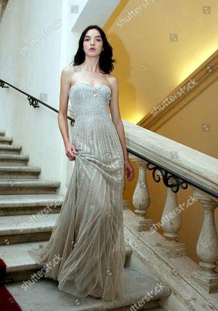 Italian Top Model Maria Carla Boscono Wears a Dress Created by Compatriot Stylist Fausto Sarli on Monday 11 July 2005 Within the 'Altaroma Altamoda' Fashion Week in Rome Italy Rome