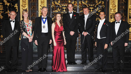 Musical Director of the Philharmonia Orchestra, David Welton, Lady Mayor, Theresa Lewis, Mayor David Lewis, solo violinist Jennifer Pike, Prince William, Conductor of the Bach Orchestra Richard Hickcox, Baritone Roderick Williams and David Hill, Musical Director of the Bach Choir