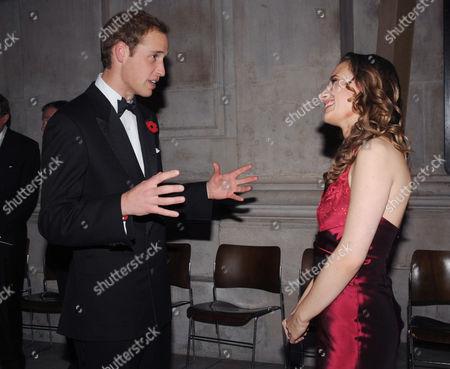 Prince William with violinist Jennifer Pike