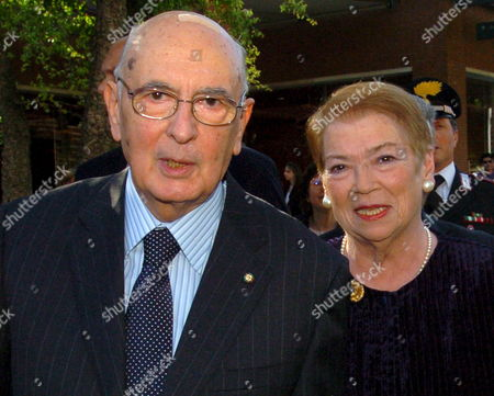 Stock Photo of Italian Newly Elected President Giorgio Napolitano (l) and His Wife Clio Bittoni Arrive at Rome's Auditorium Park of the Music to Attend a Concert on Saturday 13 May 2006 Napolitano Will Take Over From Outgoing Carlo Azeglio Ciampi and Will Begin His Seven-year Term on Monday 15 May with the Swearing-in Ceremony Italy Rome