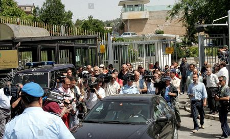 Journalists Photographers and Cameramen Crowd the Area in Front of Potenza's Jailhouse where Investigating Magistrate Henry John Woodcock and Gip (magistrate in Charge of Preliminary Investigations) Alberto Iannuzzi Interrogated Prince Vittorio Emanuele Di Savoia and Roberto Salmoiraghi Mayor of Campione D'italia an Italian Enclave on Lake Lugano Near the Swiss Border on Tuesday 20 June 2006 Prince Vittorio Emanuele Di Savoia 69-year-old Son of Italy's Last King was Arrested on Friday 16 June As Part of a Two-year Investigation Into Corruption and Prostitution Salmoiraghi is Under House Arrest Reports Said Investigators Suspected Vittorio Emanuele of Having Contacts with the Mafia and of Helping Procure Prostitutes For Clients of the Casino in Campione D'italia Italy Potenza