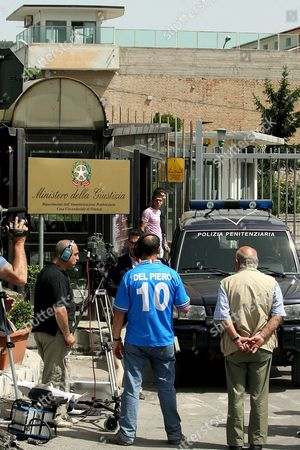 Ournalists Photographers and Cameramen Crowd the Area in Front of Potenza's Jailhouse where Investigating Magistrate Henry John Woodcock and Gip (magistrate in Charge of Preliminary Investigations) Alberto Iannuzzi Interrogated Prince Vittorio Emanuele Di Savoia and Roberto Salmoiraghi Mayor of Campione D'italia an Italian Enclave on Lake Lugano Near the Swiss Border on Tuesday 20 June 2006 Italy Potenza