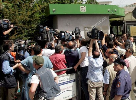 Journalists Photographers and Cameramen Crowd the Area in Front of Potenza's Jailhouse where Investigating Magistrate Henry John Woodcock and Gip (magistrate in Charge of Preliminary Investigations) Alberto Iannuzzi Interrogated Prince Vittorio Emanuele Di Savoia and Roberto Salmoiraghi Mayor of Campione D'italia an Italian Enclave on Lake Lugano Near the Swiss Border on Tuesday 20 June 2006 Prince Vittorio Emanuele Di Savoia 69-year-old Son of Italy's Last King was Arrested on Friday 16 June As Part of a Two-year Investigation Into Corruption and Prostitution Salmoiraghi is Under House Arrest Italy Potenza