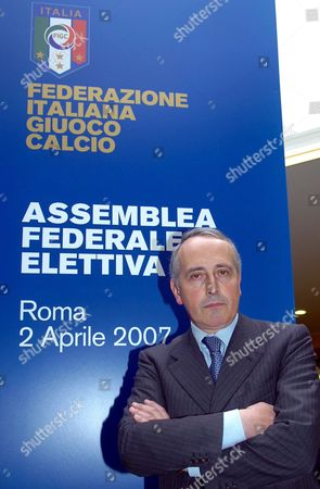 Stock Photo of Giancarlo Abete Poses For a Photo After Being Appointed New President of Figc (italian Soccer Federation) in Rome on Monday 02 April 2007 the Italian Football Federation's 10-month Search For a New President Came to an End when Giancarlo Abete was Elected to the Post on Monday Abete 56 who was the Only Candidate Previously Worked As Vice-president Under Former Federation President Franco Carraro who Resigned when the Serie a Match-fixing Scandal Broke in May Last Year Since Then the Federation Has Been Run by Two Extraordinary Commissioners Guido Rossi and Then Luca Pancalli Italy Rome