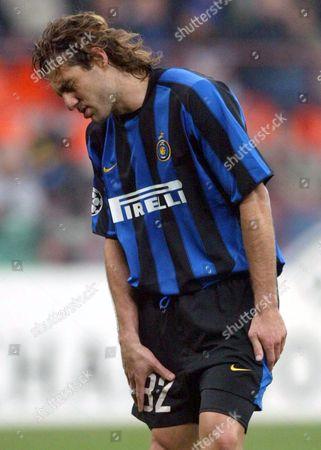Editorial image of Soccer Milan Moscow - Nov 2003