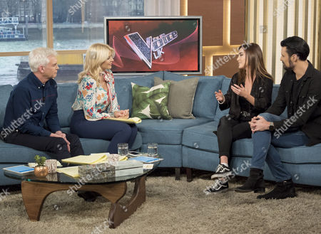 Phillip Schofield and Holly Willoughby with Clara Hurtado and Rylan Clark