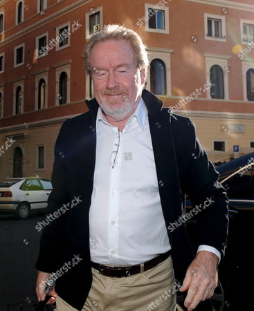 Stock Photo of British Director Ridley Scott Poses Prior to the Press Conference For the Italian Premiere of the His Film 'Body of Lies' in Rome Italy 05 November 2008 the Movie Based on the Novel by Washington Post Journalist David Ignatius Tells the Story of Cia Agent Roger Ferris who is Involved in the Fight Against Terrorism Italy Rome
